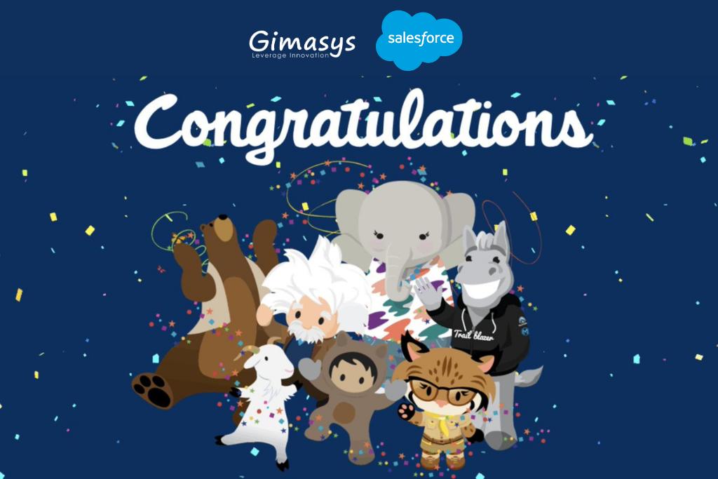 Gimasys chính thức đạt 100 chứng chỉ Salesforce